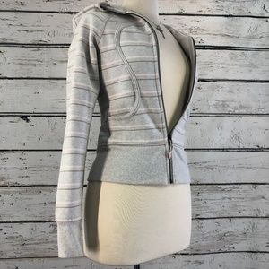 Lululemon Athletica striped SCUBA hoodie size 2